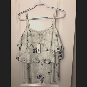 NWT Lucky Brand Cold Shoulder Blouse